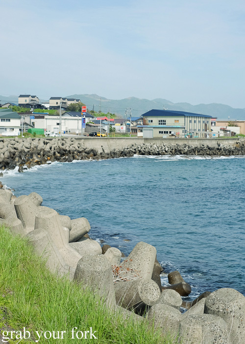 Tetrapods along the coastline of Hokkaido, Japan