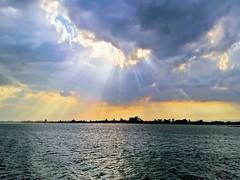 Sunburst over Venice Lagoon
