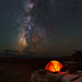 Starlight Camping On The Canyon Edge by Mike Berenson - Colorado Captures
