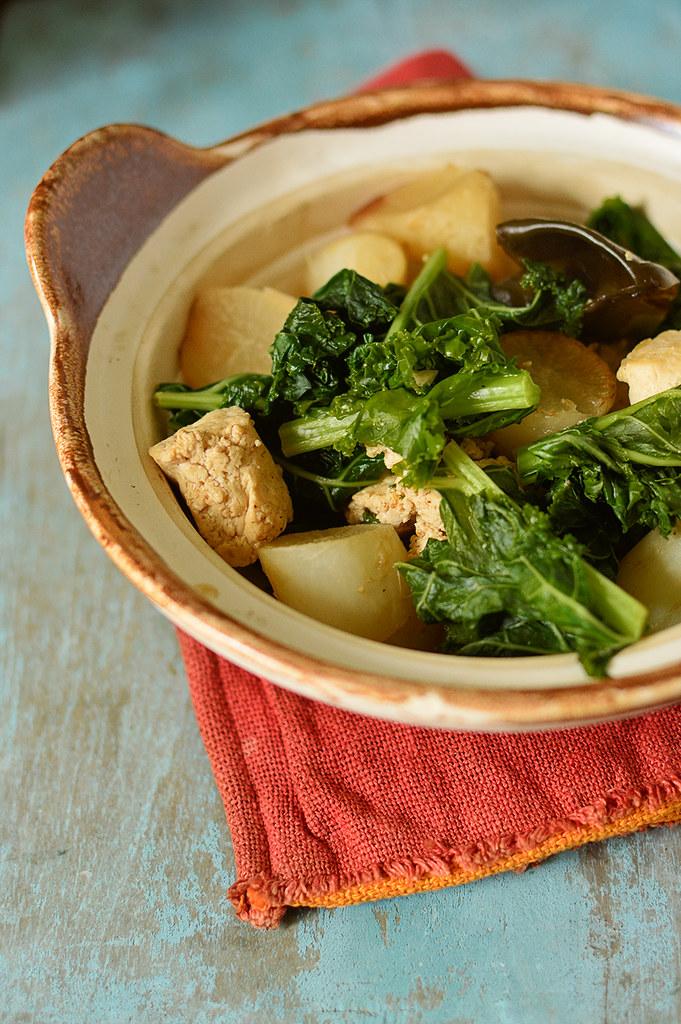 Stew Daikon w Tofu and Kale