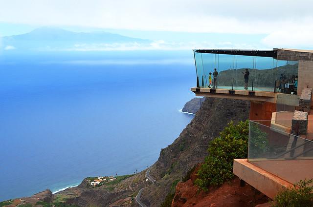 Glass viewing platform, Mirador de Abrante, Agulo, La Gomera