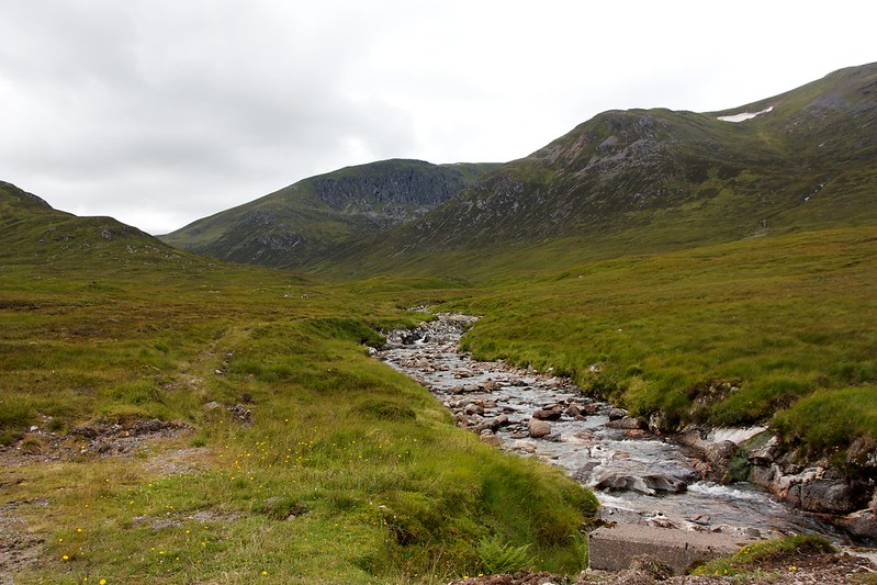 Looking up the Allt Feith Thuill