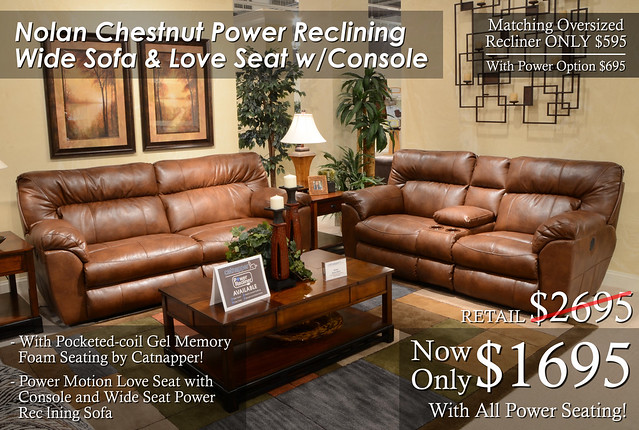 Nolan Chestnut Reclining Set UPDATE