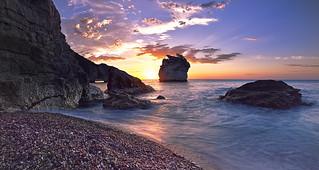 Sunrise from Baia dei Faraglioni