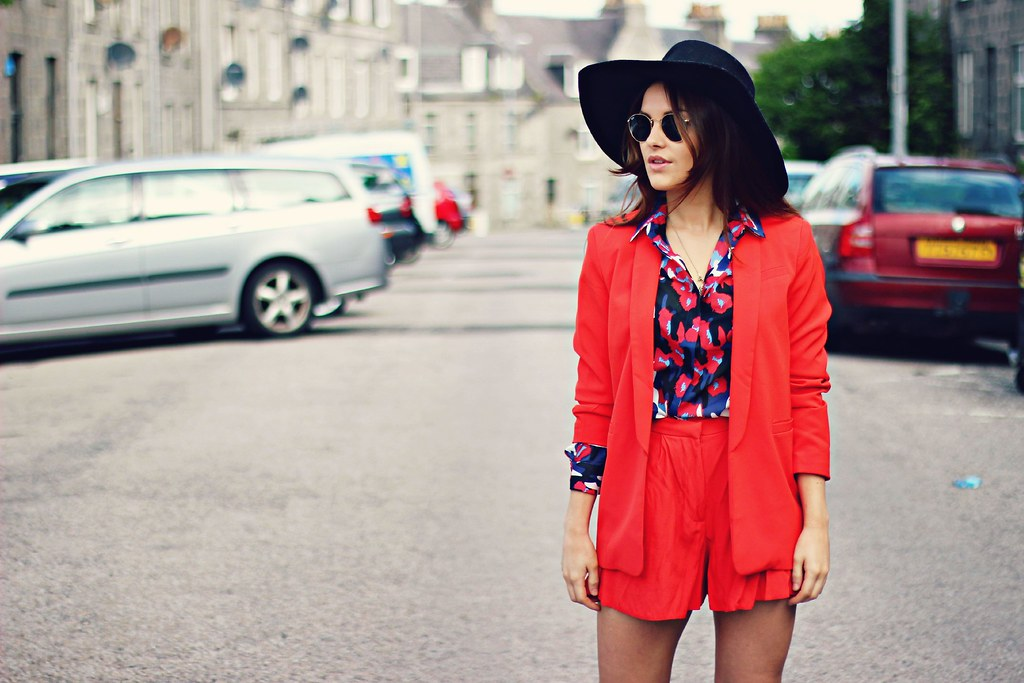 ASOS red shorts suit The Little Magpie 2