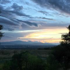 Sunset over Utah County