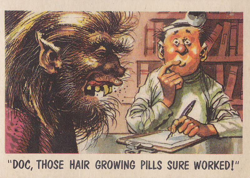 """You'll Die Laughing"" Topps trading cards 1959,  illustrated by Jack Davis (07)"
