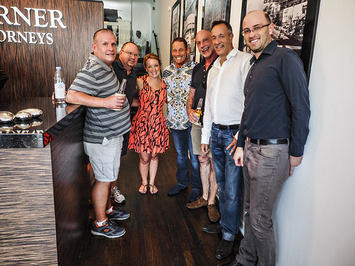 Case Managers Mike Groseclose and Kevin Stansbury, WEHO Mayor Lindsey Horvath, Glen Lerner, Hank Scott (WEHO Magazine), Keith Kaplan and Owen Ward