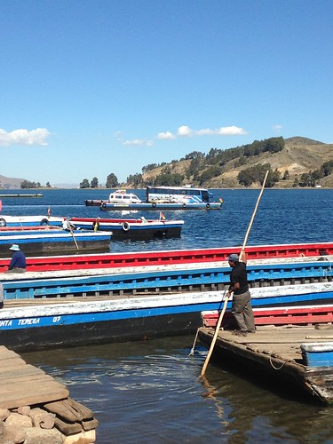 THe ferry for the bus on Lake Titicaca, Bolivia.