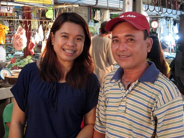 Local Kananga resident Randy Salidaga with RAY DILG engineer Shyrrah Elizaga
