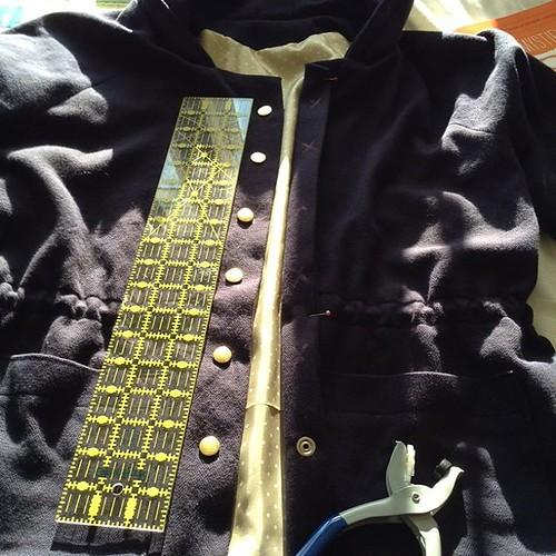 Snaps! #waver jacket #sewingblog #papercutpatterns #newclosures