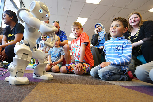 Nao Robots - Fun Palaces at Central Library Peterborough