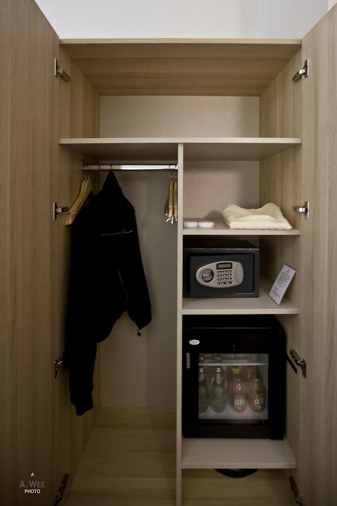 Wardrobe and minibar