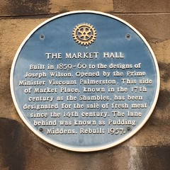 Photo of Joseph Wilson and Henry John Temple Palmerston blue plaque