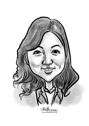 digital caricature for eBay - Tomoe Ashizaki