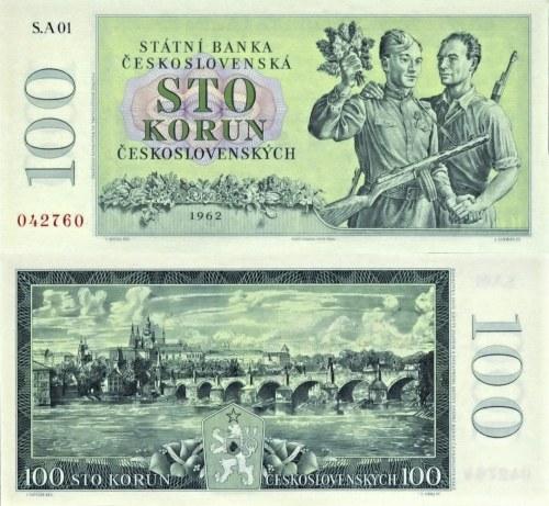 100 korún Československo 1962 nevydaná - REPLIKA