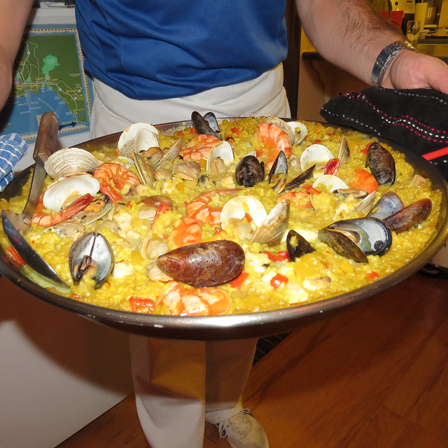 Paella during Saturday Dinner at Captain's Inn