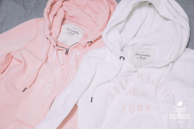 Couple of Abercrombie & Fitch hoodies.
