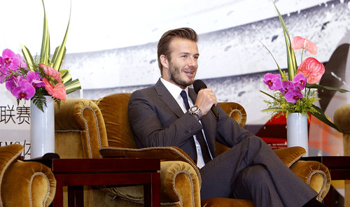 David Beckham crossed legs