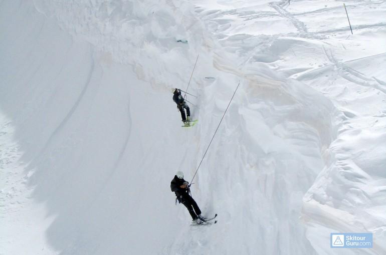 Záchrana z ledovcové trhliny