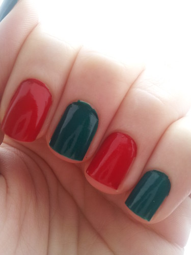 Christmas nails Red and Green