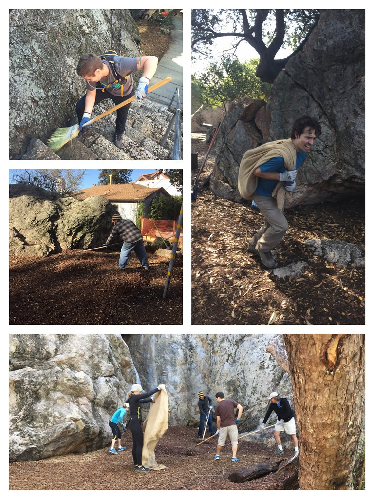 Indian and Mortar Rock Cleanup Collage