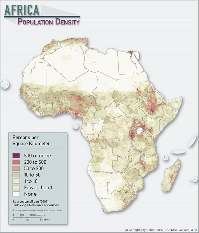 2012 Africa Population Density