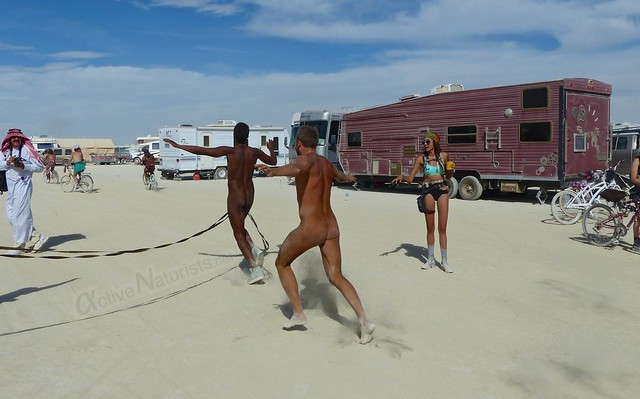 naturist run camp Gymnasium 0005 Burning Man, Black Rock City, NV, USA