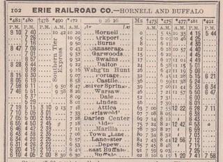 Erie 1926 Hornell Buffalo