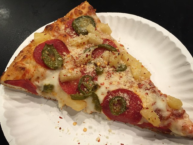 Jalapeno hawaiian slice - Nizario's Pizza