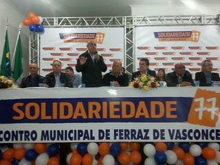 Encontro municipal do Solidariedade em Ferraz de Vasconcelos