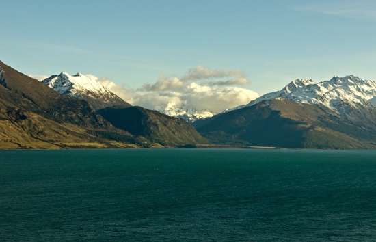 Snowy Mountains Lake Wakatipu from Glenorchy2 23 7 15 K55796