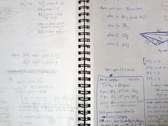 Triyang notebook pages
