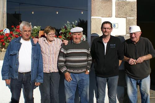 06/09/2015 - Kerlanguis (Kermouster en Plougasnou) : Les finalistes du concours de boules plombées en doublettes formées