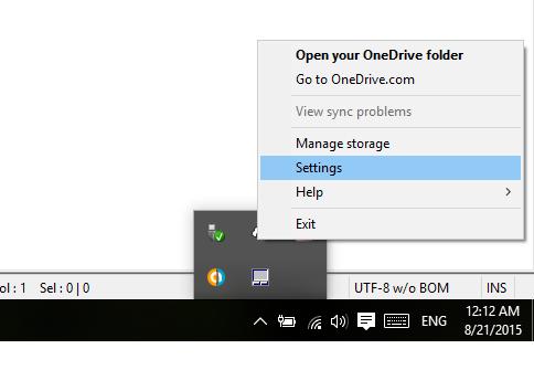 Đổi đường dẫn mặc định Onedrive trên Windows 10