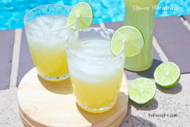 classic margarita with homemade mix. Recipe on kokocooks.com