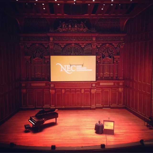 #newenglandconservatory convocation this morning. #jordanhall never ceases to amaze me. And then they gave everyone a free t-shirt at the reception afterwards!