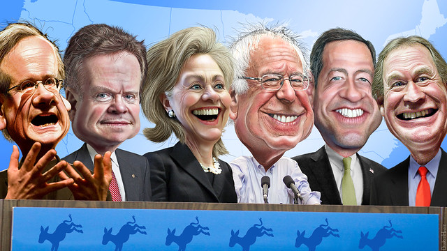 2016 Democratic Candidates - Caricatures