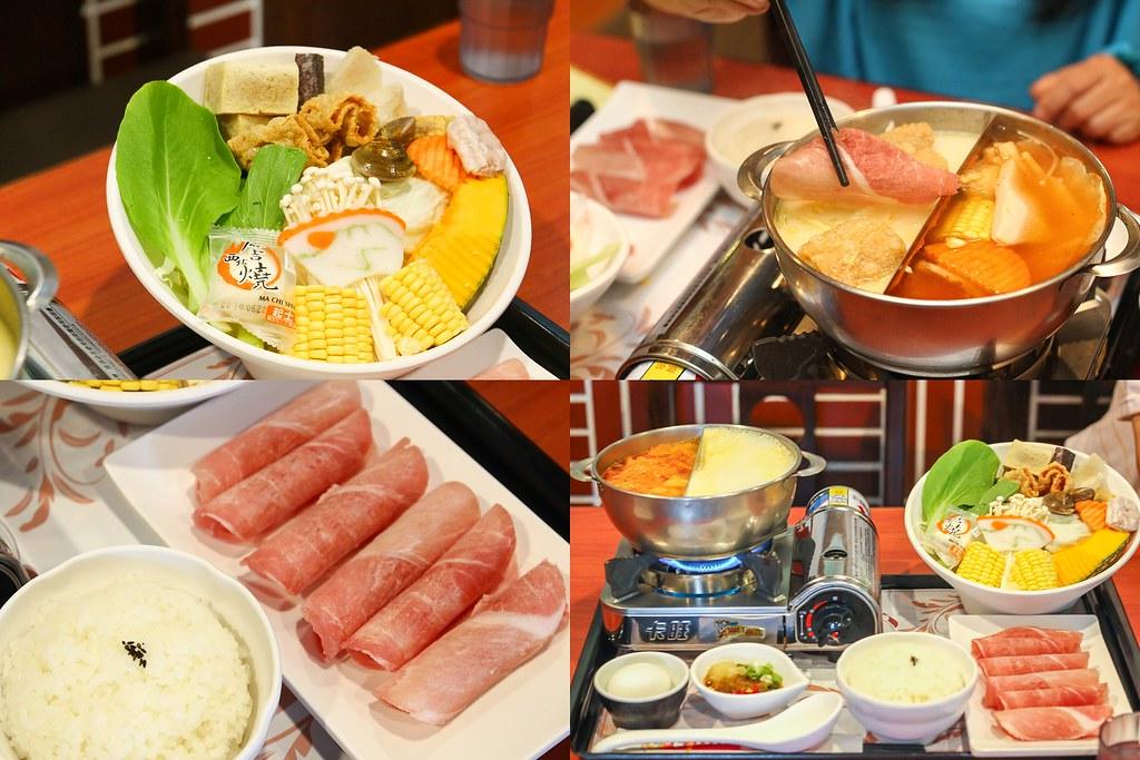 豬肉鴛鴦火鍋  起司 泡菜