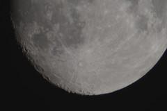 Moon 25-09-2015 2600mm Opteka Lens on Nikon D5300