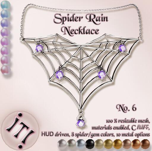!IT! - Spider Rain Necklace 6 Image
