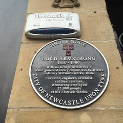 Photo of Henry Watson and William Armstrong black plaque