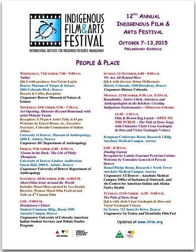 Indigenous Film and Arts Festival in Denver, Colorado, October 7-13 #ipw6
