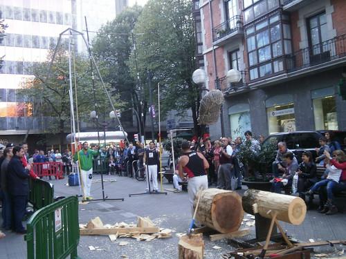 Deporte Vasco en la Gran via de Bilbao