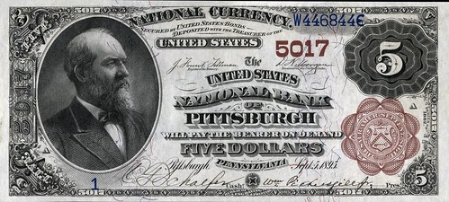 United States National Bank of Pittsburgh $5