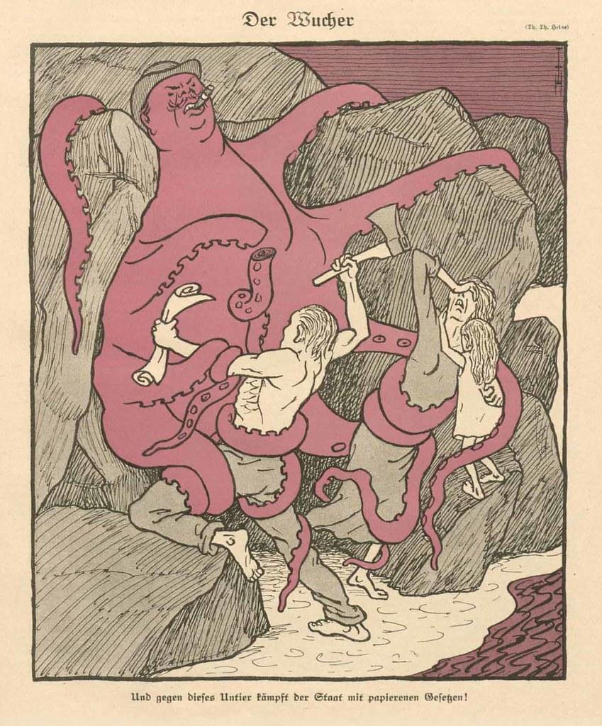 Thomas Theodor Heine - The Usury, 1923