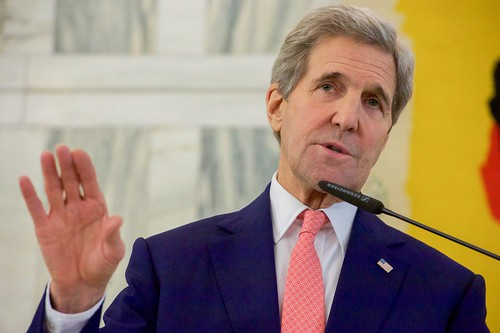 Secretary Kerry, Along With Italian Foreign Minister Gentiloni, an U.N. Special Representative for Libya Kobler, Addresses Reporters After A Multinational Meeting on Libya's Future in Rome, Italy