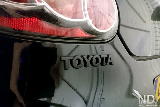 Black Toyota badge