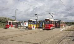 Scheveningen halte Zwarte Pad Tram 3122-3133 en 3110