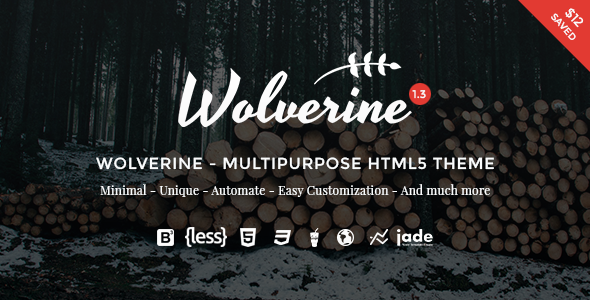 Wolverine v1.3.1 - Multipurpose HTML5 Template